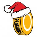 Pittsburgh Penguins Hockey ball Christmas hat decal sticker