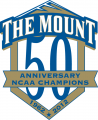 Mount St. Marys Mountaineers 2012 Anniversary Logo 01 decal sticker