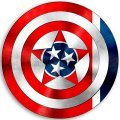 CAPTAIN AMERICA Tennessee State Flag iron on transfer
