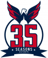 Washington Capitals 2008 09-2009 10 Anniversary Logo iron on transfer