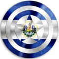 CAPTAIN AMERICA EL SALVADOR Flag decal sticker