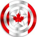 CAPTAIN AMERICA CANADA Flag decal sticker