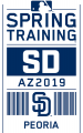 San Diego Padres 2019 Event Logo decal sticker