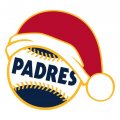 San Diego Padres Baseball Christmas hat decal sticker