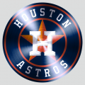Houston Astros Stainless steel logo decal sticker