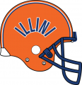 Illinois Fighting Illini 1977-1979 Helmet decal sticker
