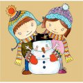 Personalized Christmas Snowman DIY decals stickers 3