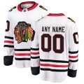 Chicago Blackhawks Custom Letter and Number Kits for White breakaway Jersey