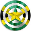 CAPTAIN AMERICA JAMAICA Flag decal sticker
