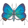 Butterfly DIY iron on stickers (heat transfer) version 18