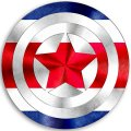CAPTAIN AMERICA COSTA RICA Flag decal sticker