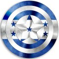 CAPTAIN AMERICA HONDURAS Flag decal sticker