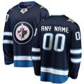 Winnipeg Jets Custom Letter and Number Kits for Blue home Jersey
