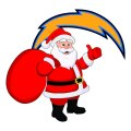 Los Angeles Chargers Santa Claus Logo iron on transfer
