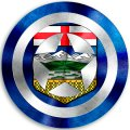 CAPTAIN AMERICA Alberta Flag iron on transfer