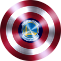captain american shield with golden state warriors logo iron on transfer