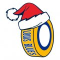 st.louis blues Hockey. louis blues Hockey ball Christmas hat decal sticker