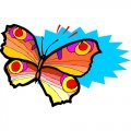 Butterfly DIY iron on stickers (heat transfer) version 28