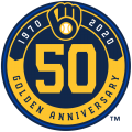 Milwaukee Brewers 2020 Anniversary Logo decal sticker