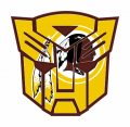 Autobots Washington Redskins logo decal sticker