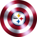 captain american shield with pittsburgh steelers logo iron on transfer