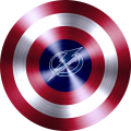 captain american shield with tampa bay lightning logo decal sticker