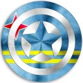 CAPTAIN AMERICA ARUBA Flag decal sticker
