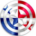 CAPTAIN AMERICA PANAMA Flag decal sticker