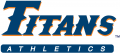 Cal State Fullerton Titans 1992-1999 Wordmark Logo decal sticker