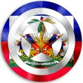 CAPTAIN AMERICA HAITI Flag decal sticker