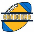 Football Los Angeles Chargers Logo iron on transfer