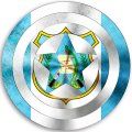 CAPTAIN AMERICA GUATEMALA Flag decal sticker