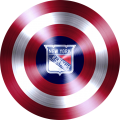 captain american shield with new york rangers logo decal sticker
