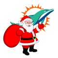 Miami Dolphins Santa Claus Logo iron on transfer