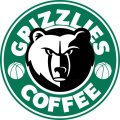 Product image/memphis grizzlies starbucks coffee logo iron on transfer