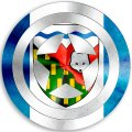 CAPTAIN AMERICA Northwest Territories Flag iron on transfer