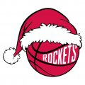 Houston Rockets Basketball Christmas hat decal sticker