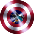 captain american shield with san jose sharks logo decal sticker