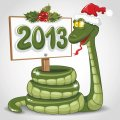 Personalized Christmas Snake DIY decals stickers 3