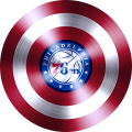 captain american shield with philadelphia 76ers logo iron on transfer