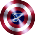 Captain American shield with st decal sticker