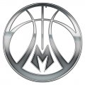 Milwaukee Bucks silver logo decal sticker