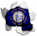 hulk South Dakota State Flag decal sticker