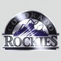 Colorado Rockies Stainless steel logo decal sticker