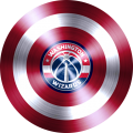 captain american shield with washington wizards logo iron on transfer