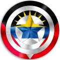 CAPTAIN AMERICA ANTIGUA AND BARBUDA Flag decal sticker