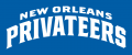 New Orleans Privateers 2013-Pres Wordmark Logo 08 decal sticker