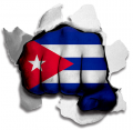 hulk CUBA Flag decal sticker