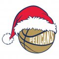 New Orleans Pelicans Basketball Christmas hat decal sticker