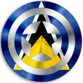 CAPTAIN AMERICA ST. LUCIA Flag decal sticker